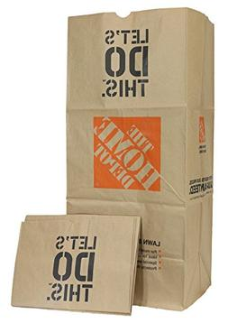 Home Depot Heavy Duty Brown Paper 30 Gallon Lawn and Refuse