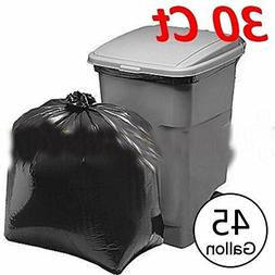 30 Pcs Heavy Duty 45 Gallon Extra Large Commercial Trash Bag