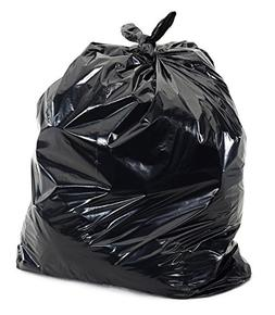 55 Gallon Trash Can Liners Contractor Bags Black Made in USA
