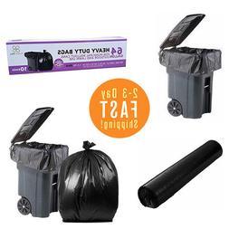 PlasticMill 64 Gallon Heavy Duty 1.5 Mil Trash Can Liners fo