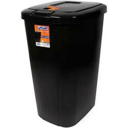 Hefty Trash Can Garbage 13 Gallon Bin Touch Lid Spring Loade