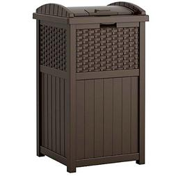 GJ Garbage Can Enclosure Plastic Cabinet Trash Bin Outdoor I