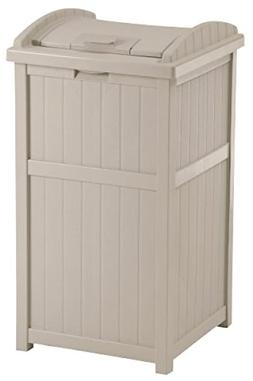 Large Capacity 30 Gallon Outdoor Hideaway Wooden Vintage Tra