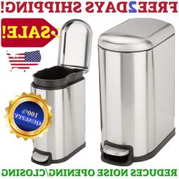 Home Kitchen And Office Soft Close Slim Step On Trash Can St