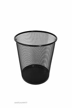 American Chateau Home Office Metal Mesh Black Waste Basket/T