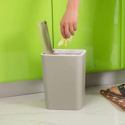 Home Office Toilet Slim Trash Can Garbage Wastebasket Bin Ru