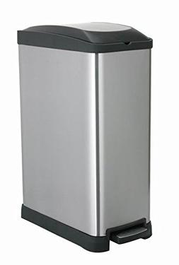 Home Zone HomeZone 45L Rectangle Pedal Bin, Stainless Steel