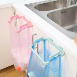 Mini Plastic Door Garbage Trash Bag Can Rack Holder Kitchen