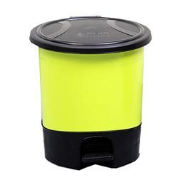 Battletter Household Creative Circular Pedal Dustbin Step Tr