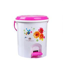Battletter Household Fashionable Cartoon Step Trash Can Lova