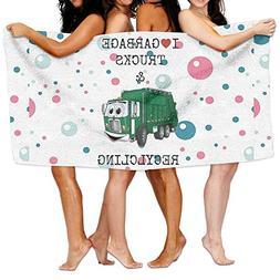 Dianqusha I Love Garbage Trucks  Women's Adjustable Microfib