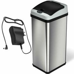 iTouchless 13 Gallon Rectangular Extra-Wide Stainless Steel
