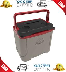 Igloo Profile 16 Quart Cooler, Sandstone/Blaze Red, 16 Qt /