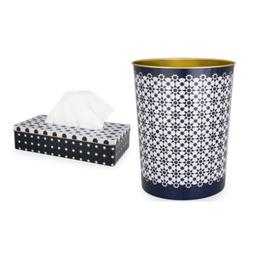 Image d'Orient Garbage Can and Tissue Box Set