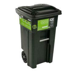 Indoor Outdoor Toter 32 Gal. Trash Can Garbage Container Car