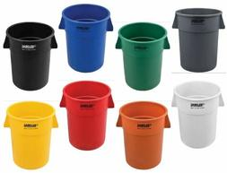 Industrial Plastic Trash Container, Garbage Can - 55 Gal Col