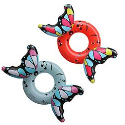 DMGF Inflatable Swimming Ring Pool Float Butterfly Raft Tube