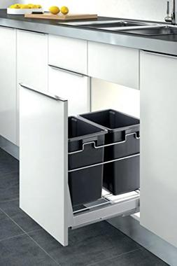 Inside Cabinet Pull-Out Kitchen Duble Waste Container Door M