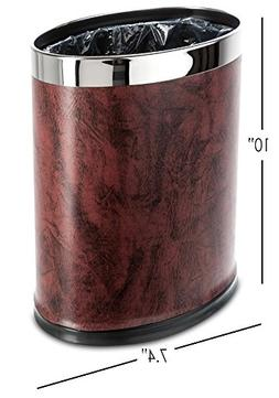 Brelso 'Invisi-Overlap' Open Top Leatherette Trash Can, Smal