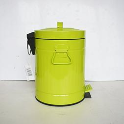 Ving Iron Sheet Shell Trash Cans,Green Retro Pedal Easy To C