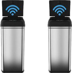 ITouchless Sensor Trash Can Garbage 13 Gal Deodorizer Filter
