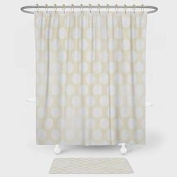iPrint Ivory Shower Curtain And Floor Mat Combination Set Re