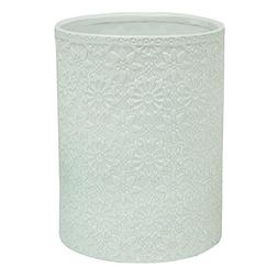 Bacova Guild Jessica Simpson Bonito White Wastebasket Garbag