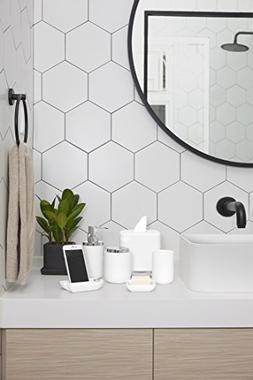 Umbra Junip Resin Bathroom Tumbler, Accessories Holder and O