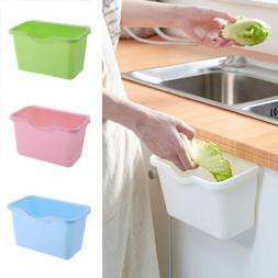 Kitchen Cabinet Door Plastic Basket Hanging Trash Can Waste