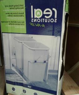Kitchen Cabinet Pull Out Trash Can Sliding Garbage Waste Bin