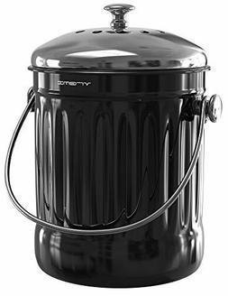 Vremi Kitchen Compost Bin for Counter or Under Sink - 1.2 Ga