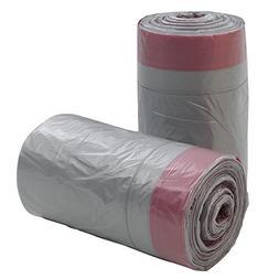 Qsbon 18 Gallon Large Kitchen Drawstring Trash Bags, 95 Coun