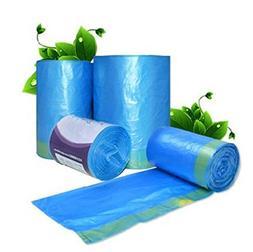 Drawstring Trash Bags 2.6-4 Gallon Garbage Bag Blue, Office,