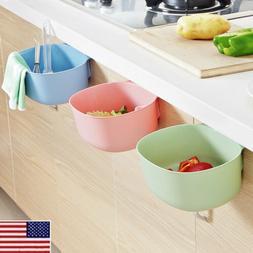 Kitchen Fruit Cabinet Hanging Garbage Door Storage Boxes Tra