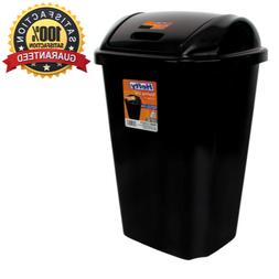 Kitchen Trash Can 13.5 Gal Hefty Swing Lid Waste Basket Garb