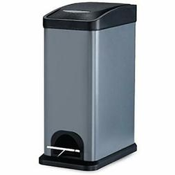 Kitchen Trash Cans Step Can,Carbon Steel Garbage With Lid An