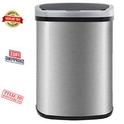 Kitchen Waste Trash Can Automatic Step Home Garbage Bin Touc