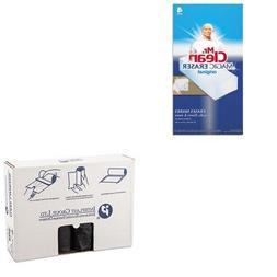 KITIBSS404812KPAG82027 - Value Kit - Inteplast Black 12 Mic