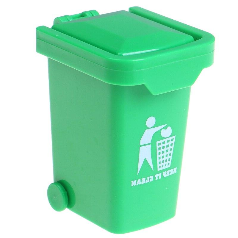 Green Color 1:12 Dollhouse Miniature <font><b>Trash</b></fon