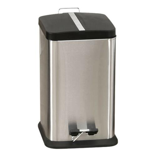 1.6G/ 6L Stainless Trash Can Step On Bucket