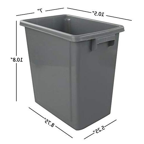 Wekiog L/3 Plastic Trash Garbage Kitchen, Bathroom, 3