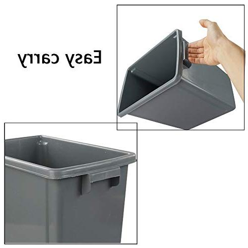 Wekiog Plastic Can Garbage Kitchen, 3 Packs