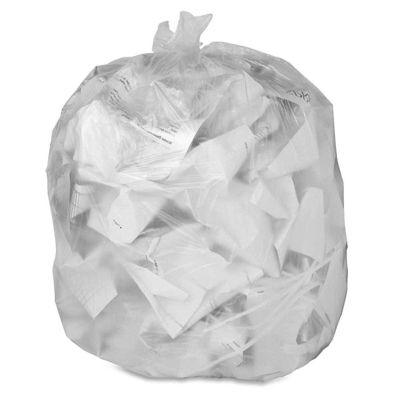 1000 7-10 Gallon High Density Bags Garbage Can Liners Clear