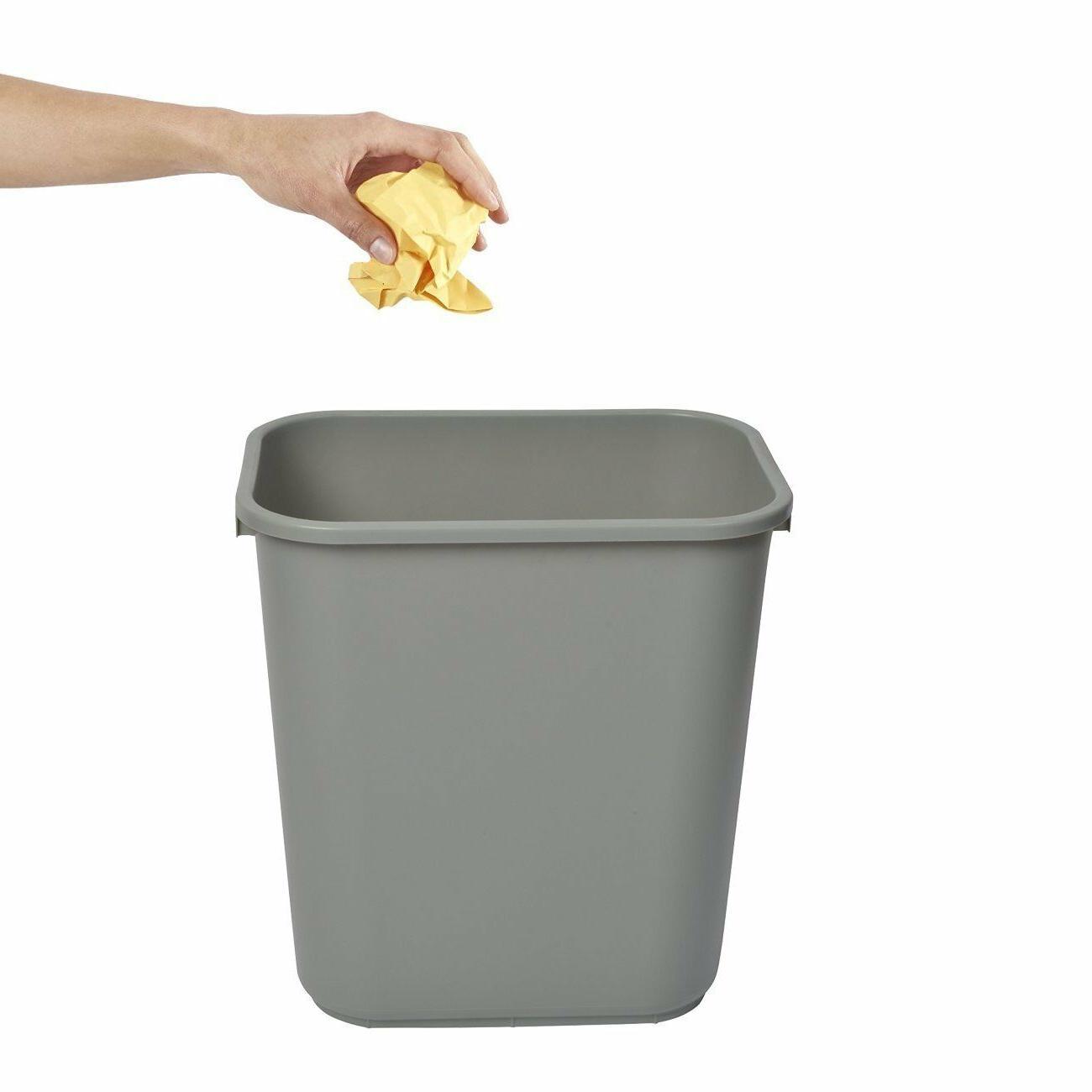 1037grey 41 quart rectangular wastebasket