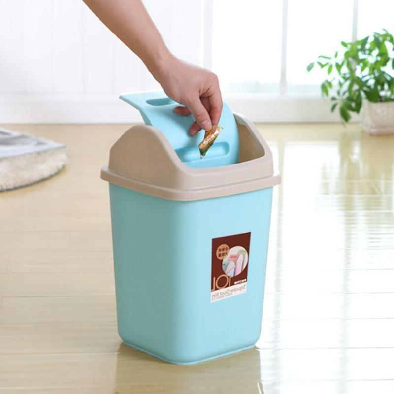 10L Household Garbage Basket Waste Home Trash Storage Lid