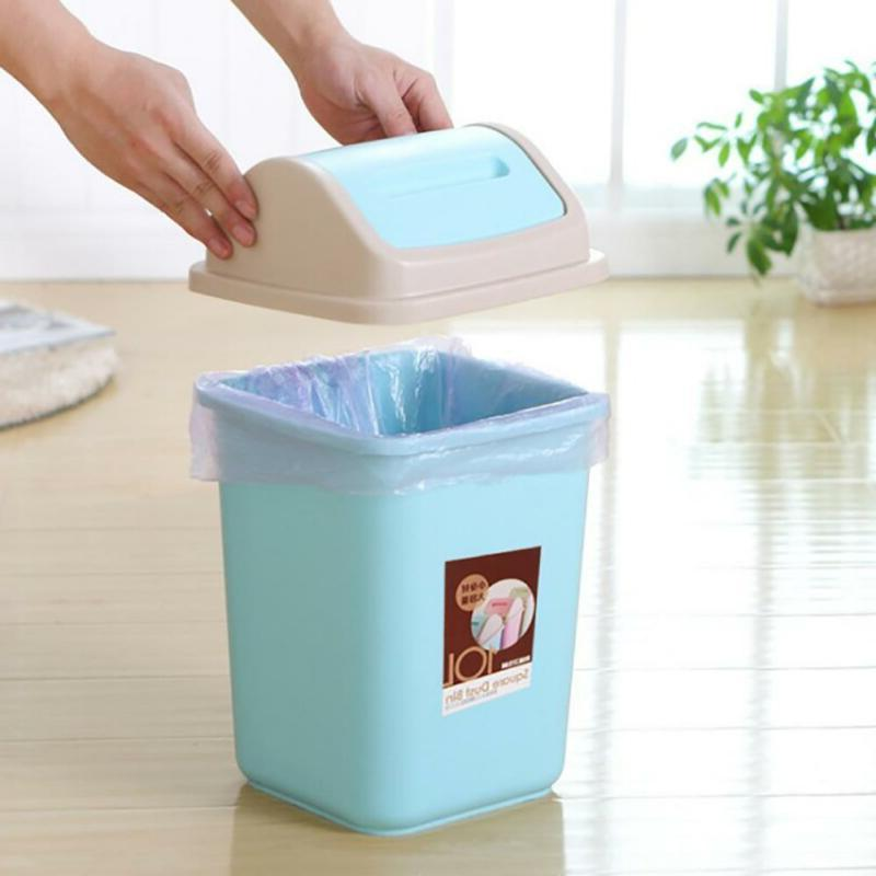 10L Garbage Waste Bin Home Trash Lid