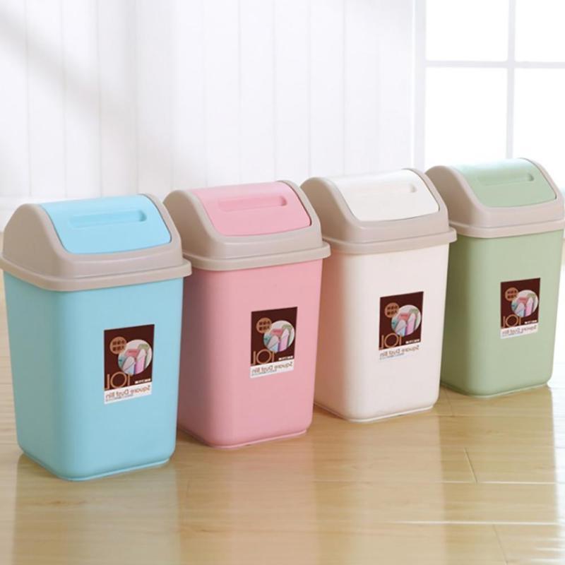 10L Household Garbage Basket Waste Bin Home Office Trash Can Storage Lid