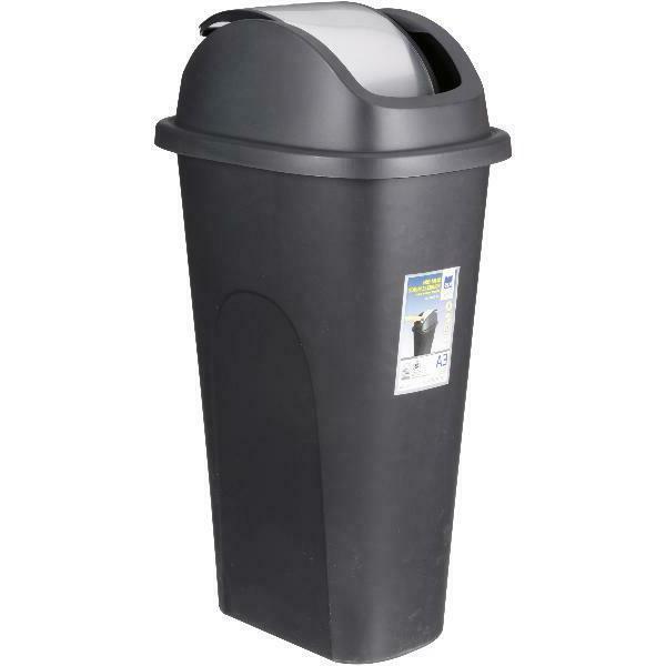 11 Gallon Trash Can Slim With Lid Storage Black