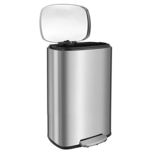 13.2 Gallon/50L Steel Rectangular Garbage Bin Office Trash Can