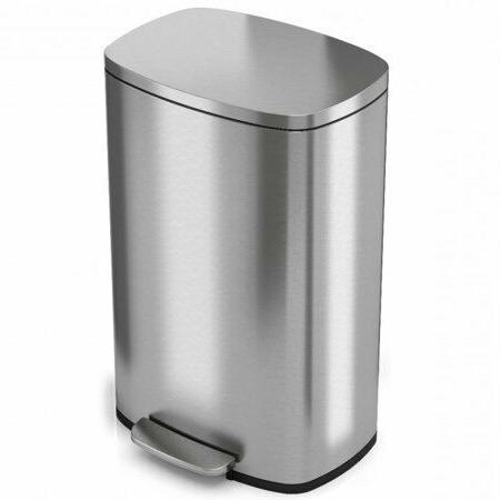 13 2 gallon step trash can kitchen